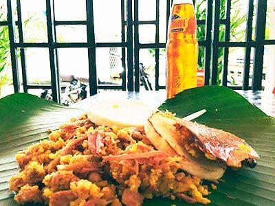 lechona platillo de la comida colombiana